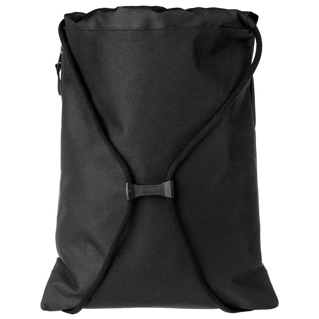 Forever Collectibles Denver Broncos Striped Zipper Drawstring Backpack