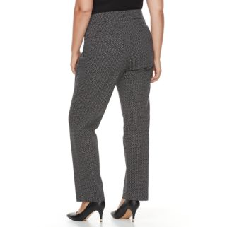 Plus Size Briggs Millennium Printed Pull-On Pants