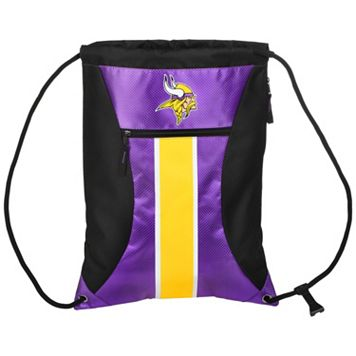 Forever Collectibles Minnesota Vikings Striped Zipper Drawstring Backpack