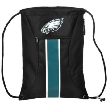 Forever Collectibles Philadelphia Eagles Striped Zipper Drawstring Backpack