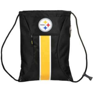 Forever Collectibles Pittsburgh Steelers Striped Zipper Drawstring Backpack