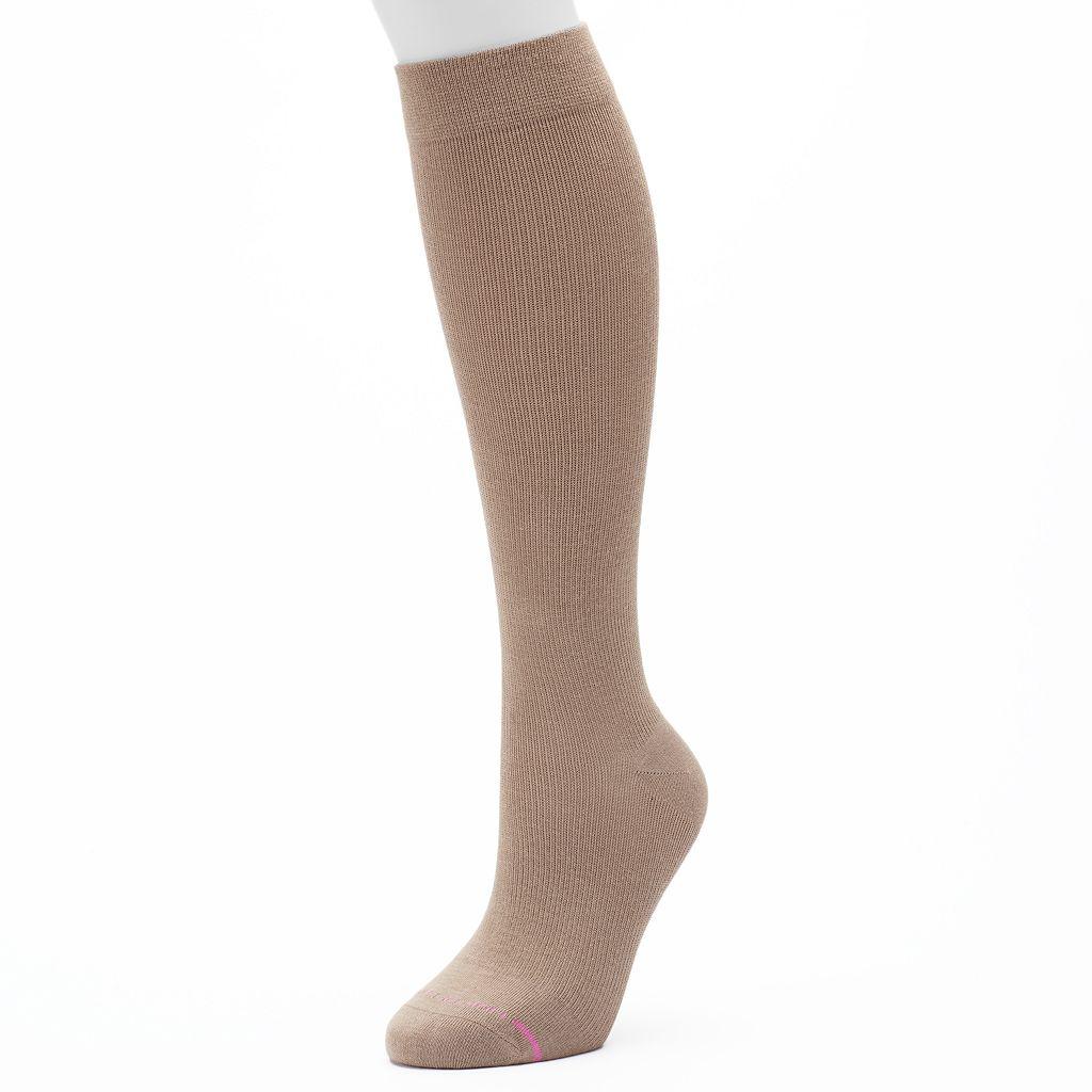 Women's Dr. Motion Knee-High Cotton Compression Socks