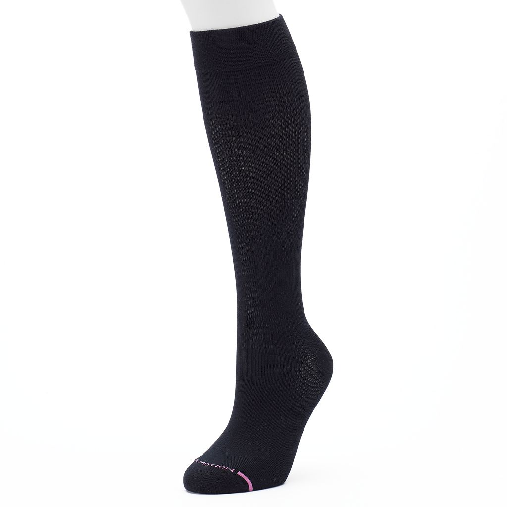 Women's Dr. Motion Knee-High Cotton Compression Socks