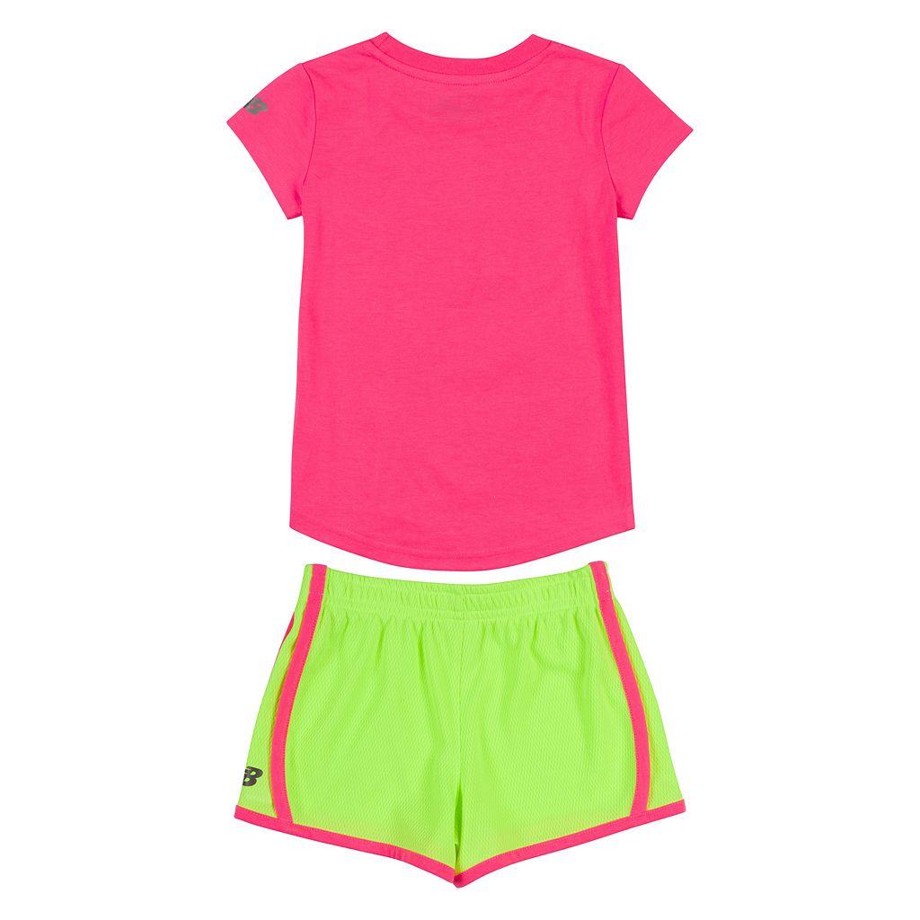 Girls 4-6x New Balance Graphic Tee & Shorts Set
