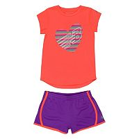 Girls 4-6x New Balance Graphic Tee & Shorts Set