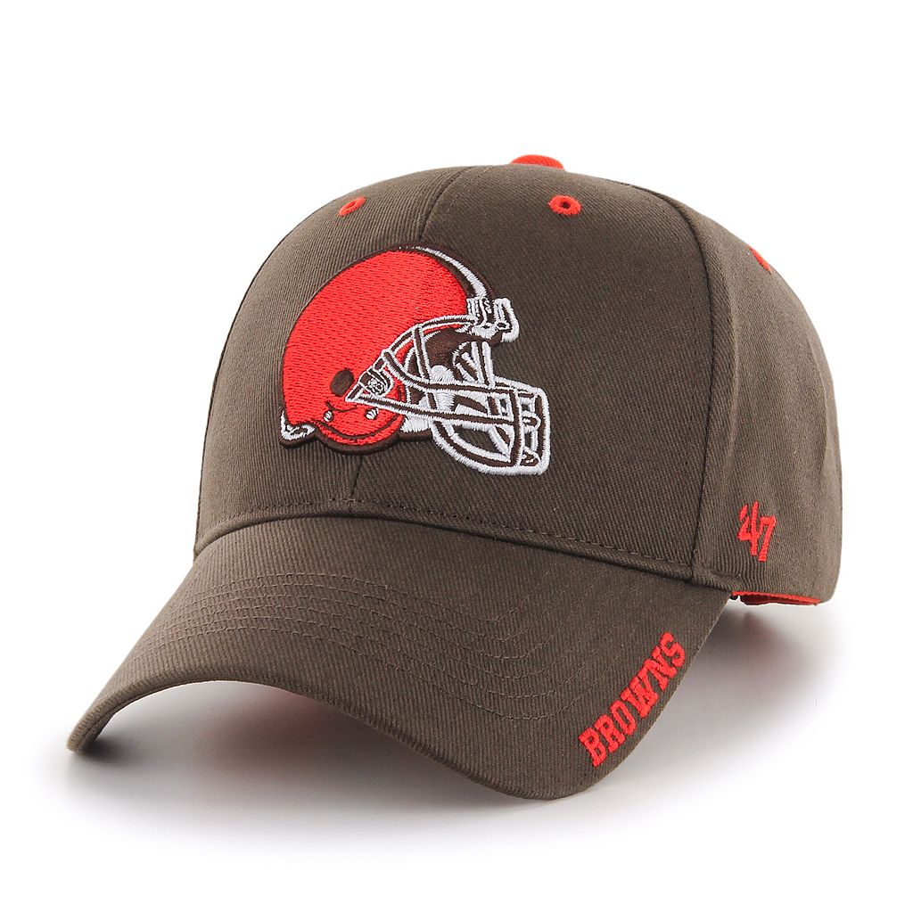 Adult '47 Brand Cleveland Browns Frost MVP Adjustable Cap