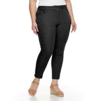 Plus Size Briggs Super Stretchy Ankle Pants