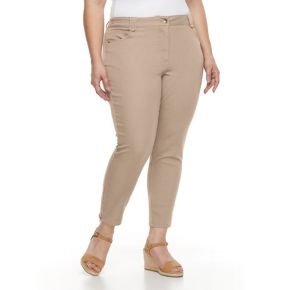 Plus Size Briggs Super Stretchy Ankle Pants