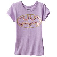 Girls 4-7 DC Comics Batman Foil Graphic Tee