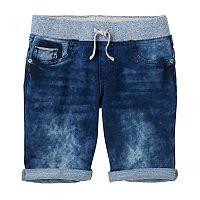 Girls 7-16 & Plus Size SO® Metallic Ribbed Waist Bermuda Shorts