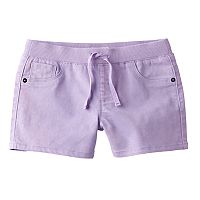 Girls 7-16 SO® Ribbed Waist Lavender Shorts