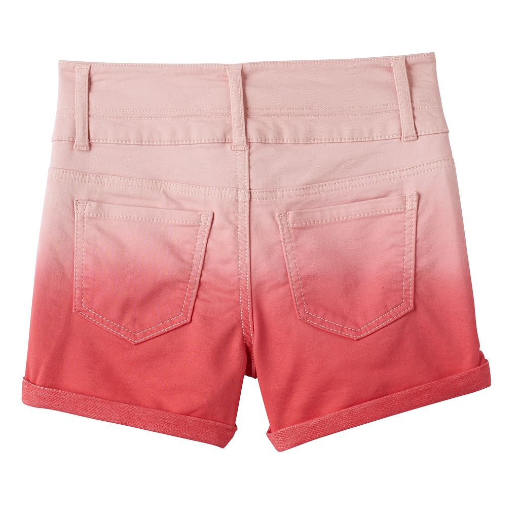 Girls 7-16 SO® Twist Belt Loop Dip Dye Bermuda Jean Shorts