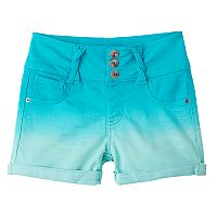 Girls 7-16 SO® Twist Belt Loop Dip Dye Bermuda Jean Shorts