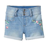 Girls 7-16 & Plus Size SO® Light Wash Braided Belt Loop Jean Shorts