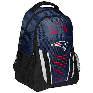 Forever Collectibles New EnglandPatriots Stripe Franchise Backpack