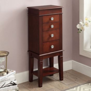 Linon Madison 4-Drawer Jewelry Armoire