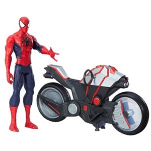 Marvel Spider-Man Titan Hero Series Spider-Man Figure with Spider Cycle Set by Hasbro