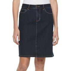 Women's Croft & Barrow® Jean Skirt
