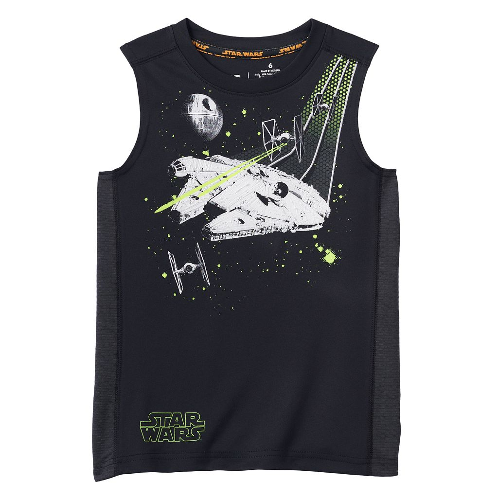 Boys 4-7x Star Wars a Collection for Kohl's Textured Mesh Tank Top by Jumping Beans®