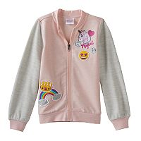 Girls 4-7 Emoji Bomber Jacket