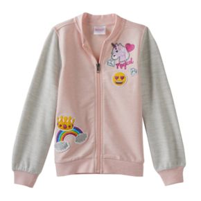 Girls 4-7 Emoji Bomber Jacket