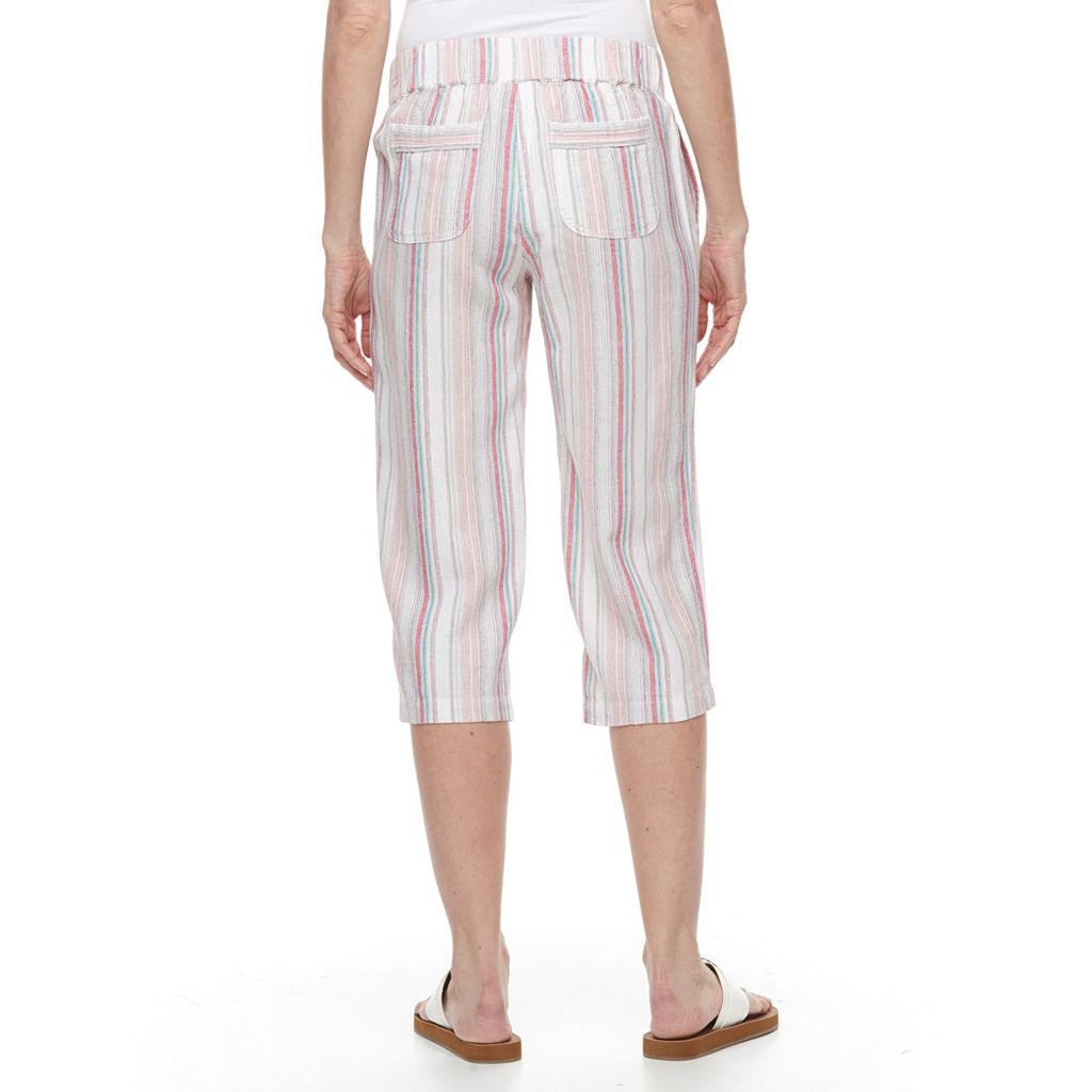 Women's Croft & Barrow® Linen-Blend Capris