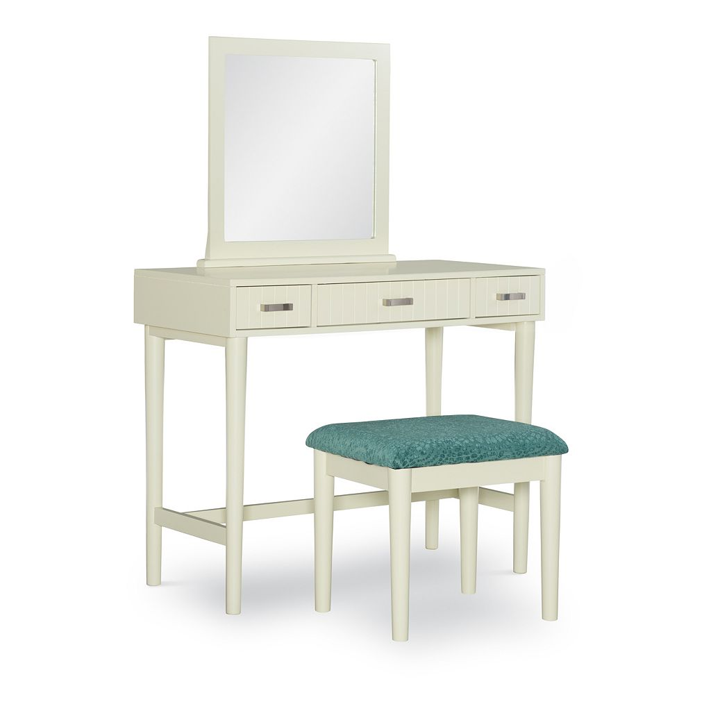 Linon Garbo Vanity & Bench 2-piece Set