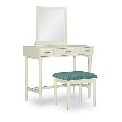 Linon Garbo Vanity & Bench 2-piece Set