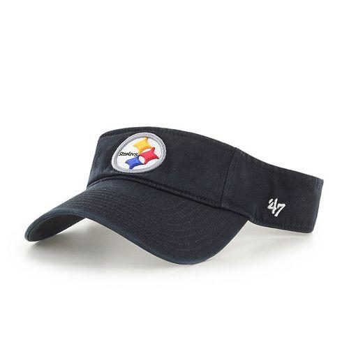 3b2c9992 Adult '47 Brand Pittsburgh Steelers Clean Up Visor
