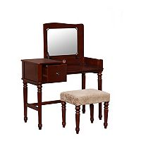 Linon Wyndham Vanity & Stool 2 pc Set