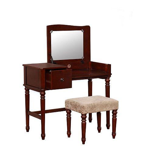 Linon Wyndham Vanity & Stool 2-piece Set