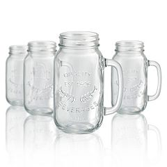 Artland 4 pc Mason Jar Beer Mug Set