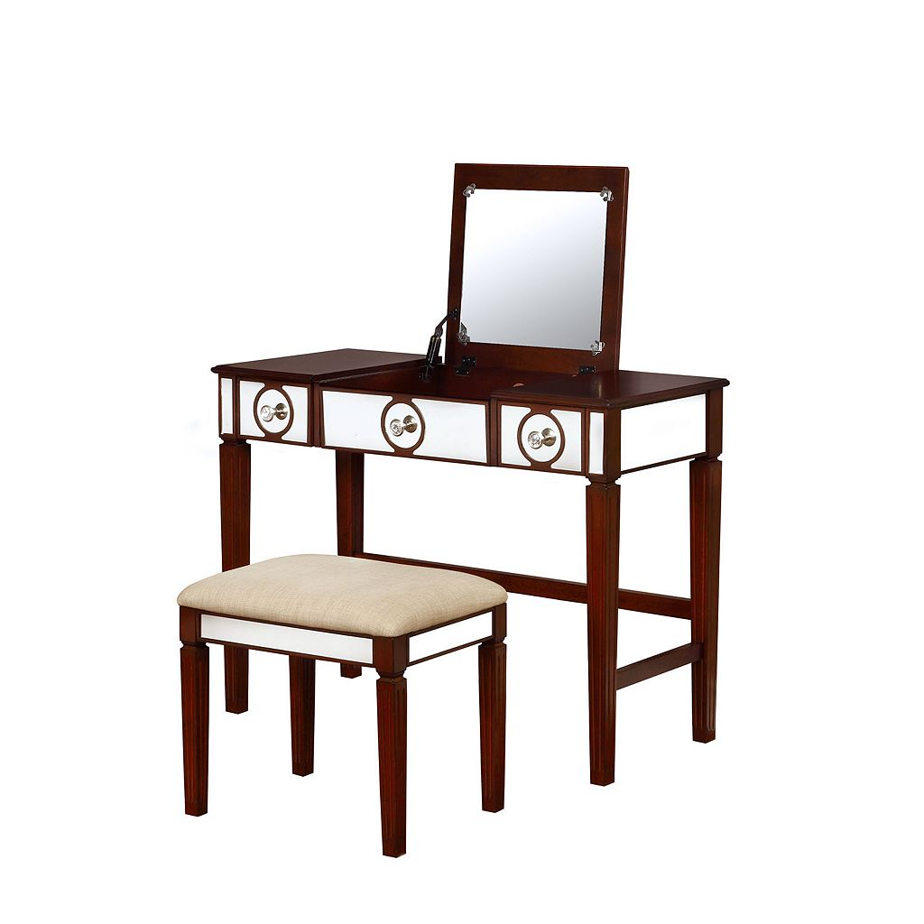 Linon Madison Vanity & Stool 2-piece Set