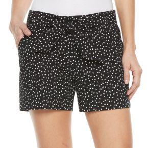 Women's Croft & Barrow® Tie-Waist Twill Shorts