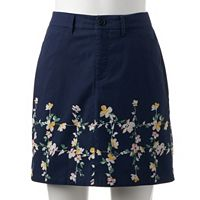 Women's Croft & Barrow® Essential Twill Skort
