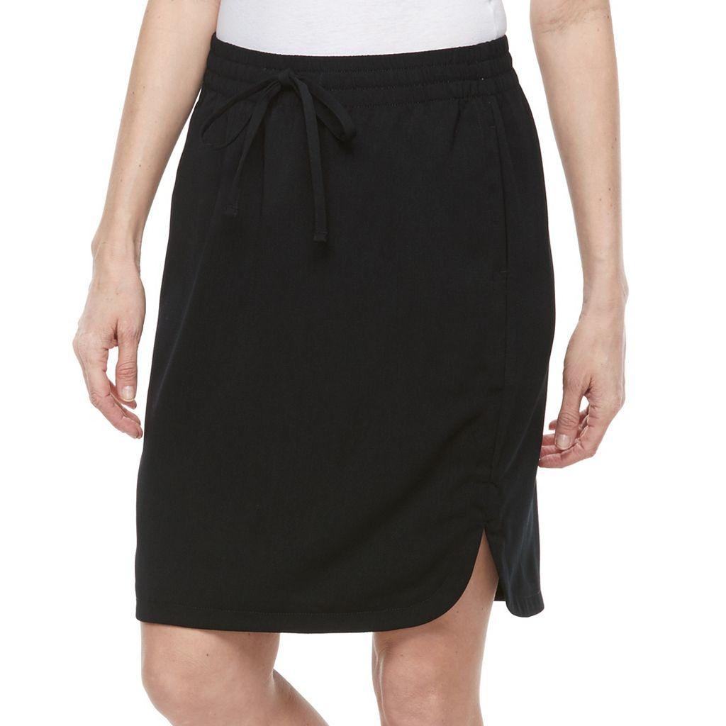 Women's Croft & Barrow® Crepe Skirt