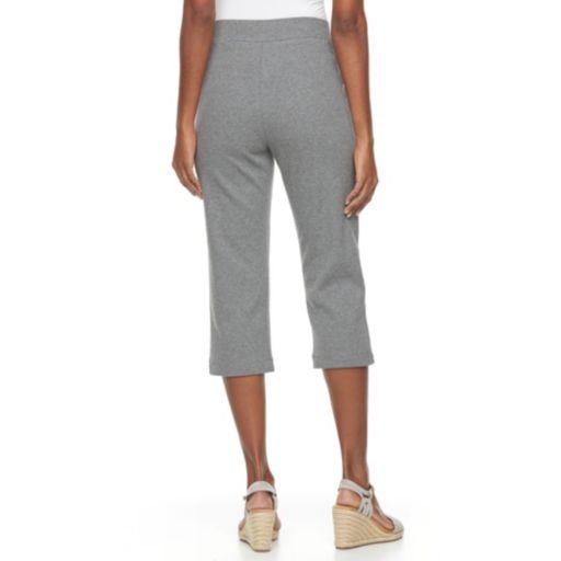 Women's Croft & Barrow® Pull-On Knit Capris