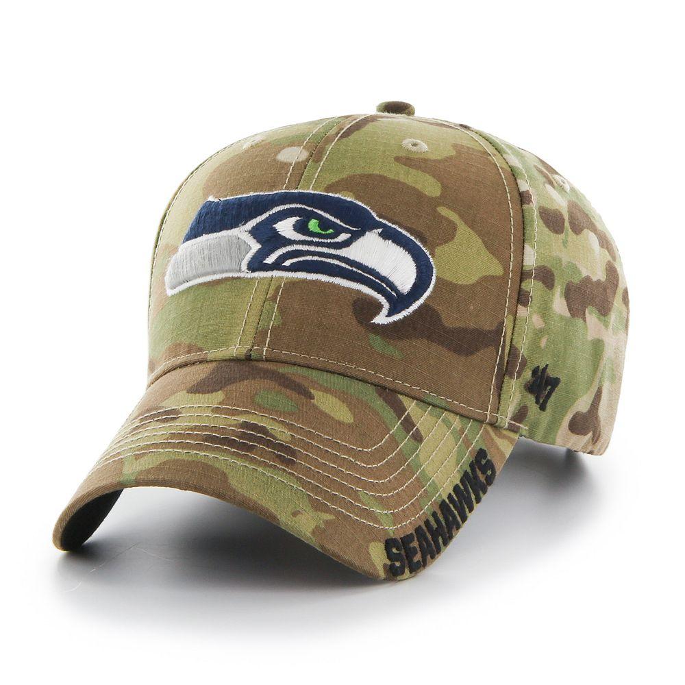 c0305da3 Adult '47 Brand Seattle Seahawks Multicam Myers Adjustable Cap