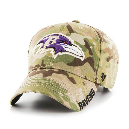 Adult '47 Brand Baltimore Ravens Multicam Myers Adjustable Cap