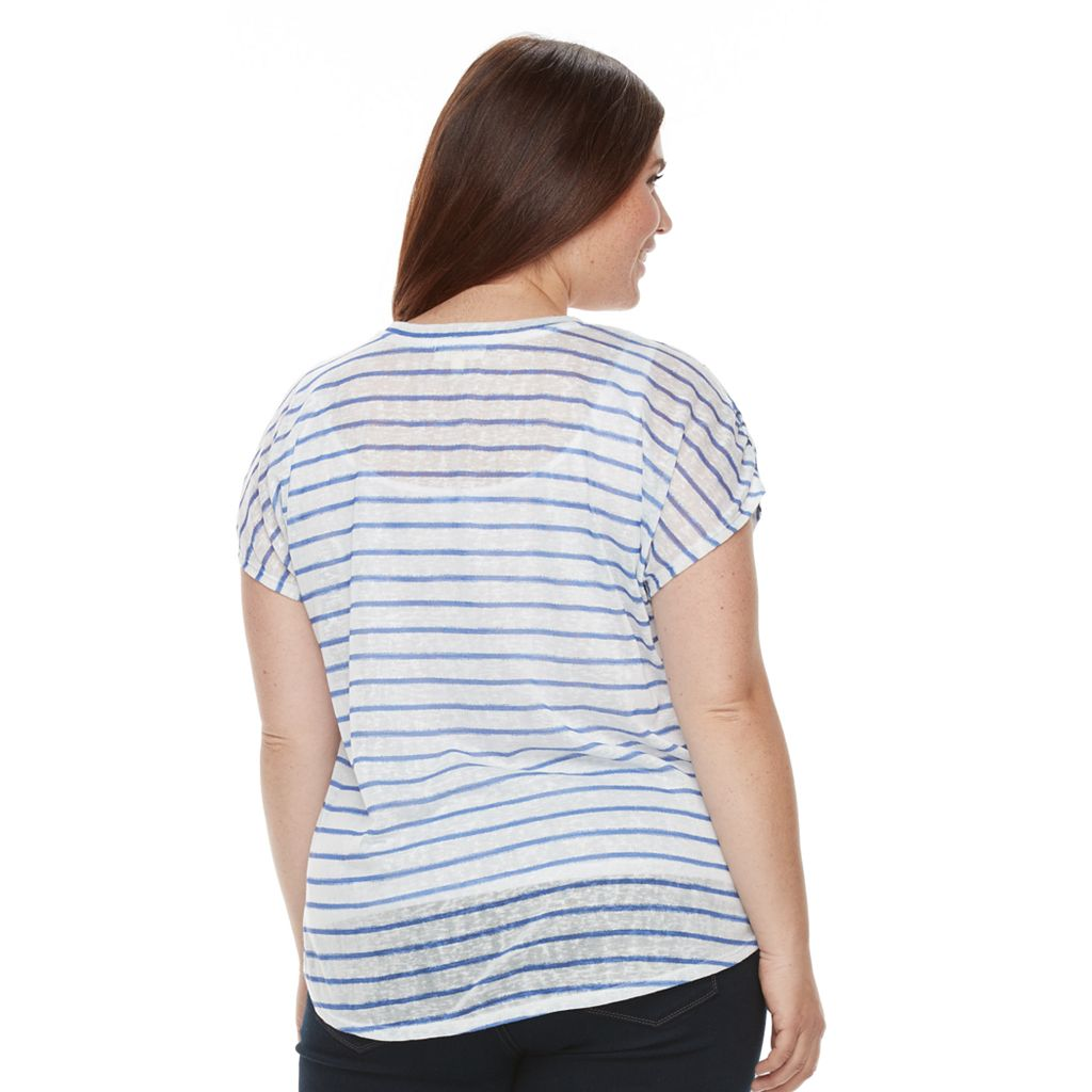 Plus Size Kate and Sam Stars & Striped Tee