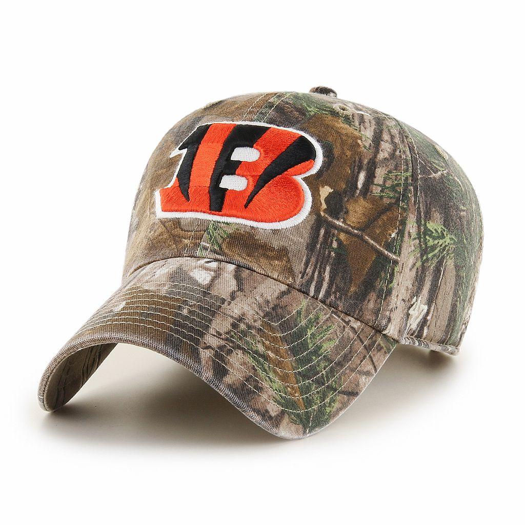 Adult '47 Brand Cincinnati Bengals Realtree Clean Up Adjustable Cap