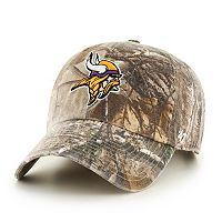 Adult '47 Brand Minnesota Vikings Realtree Clean Up Adjustable Cap