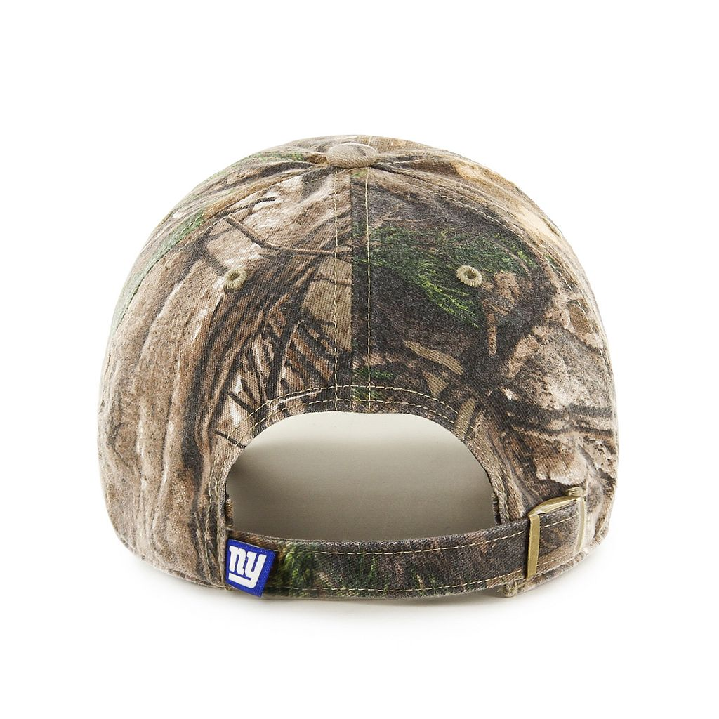 Adult '47 Brand New York Giants Realtree Clean Up Adjustable Cap