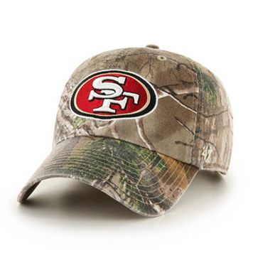 Adult '47 Brand San Francisco 49ers Realtree Clean Up Adjustable Cap