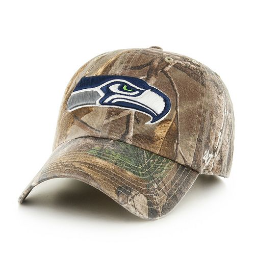Adult '47 Brand Seattle Seahawks Realtree Clean Up Adjustable Cap
