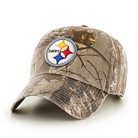 Adult '47 Brand Pittsburgh Steelers Realtree Clean Up Adjustable Cap