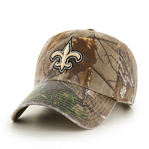 sports shoes f4865 4a5eb Adult  47 Brand New Orleans Saints Realtree Clean Up Adjustable Cap