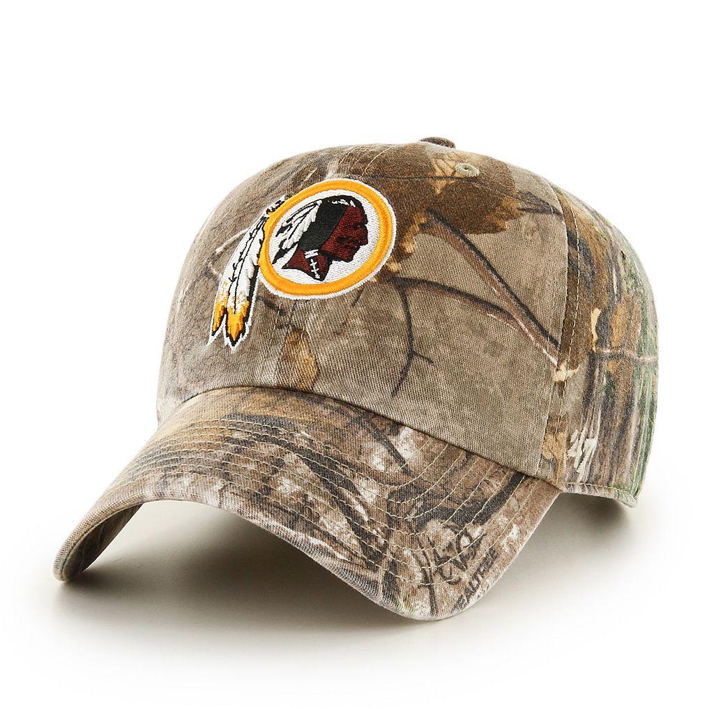 Adult '47 Brand Washington Redskins Realtree Clean Up Adjustable Cap