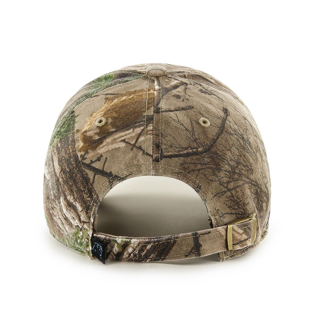 Adult '47 Brand Carolina Panthers Realtree Clean Up Adjustable Cap