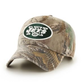 Adult '47 Brand New York Jets Realtree Clean Up Adjustable Cap